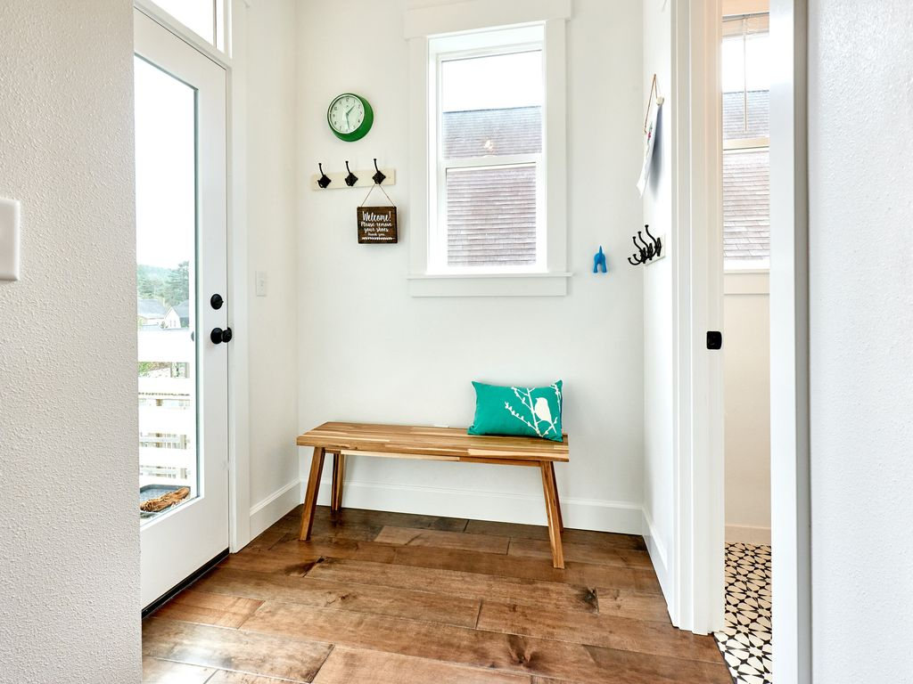 Drop your shoes + coats in our mudroom.