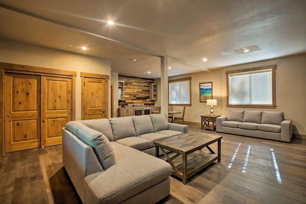 Large Family Room with Large Screen TV