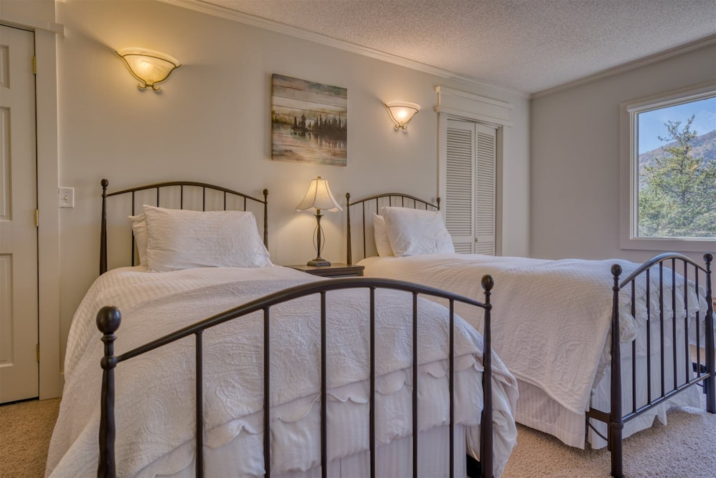 This double twin guest bedroom elegantly situated