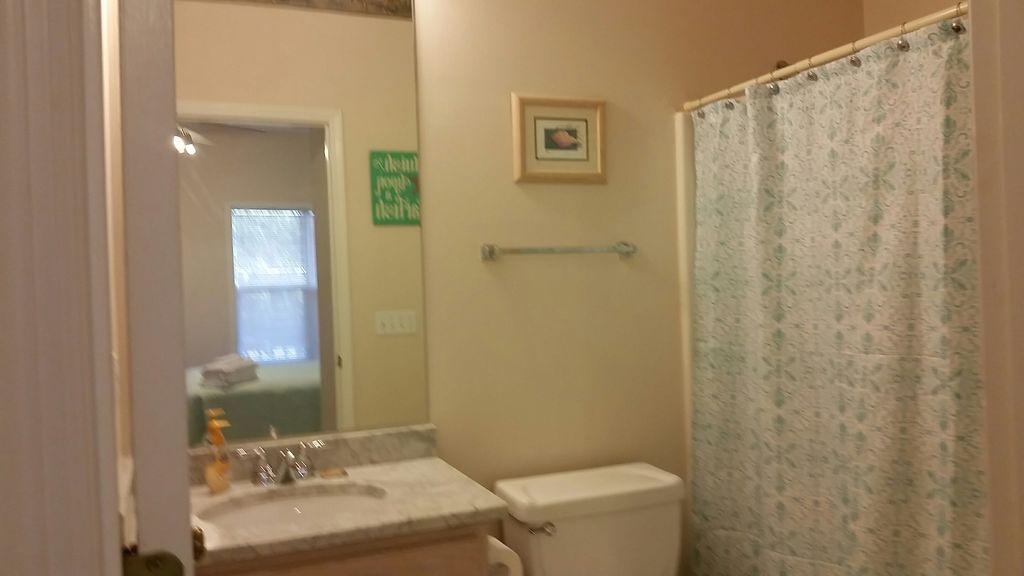 Private bath for 2nd floor queen bedroom