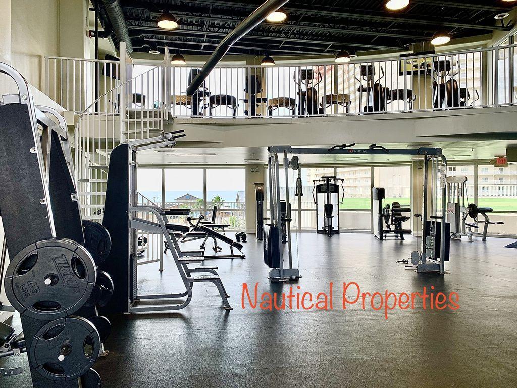 2 level fitness center.