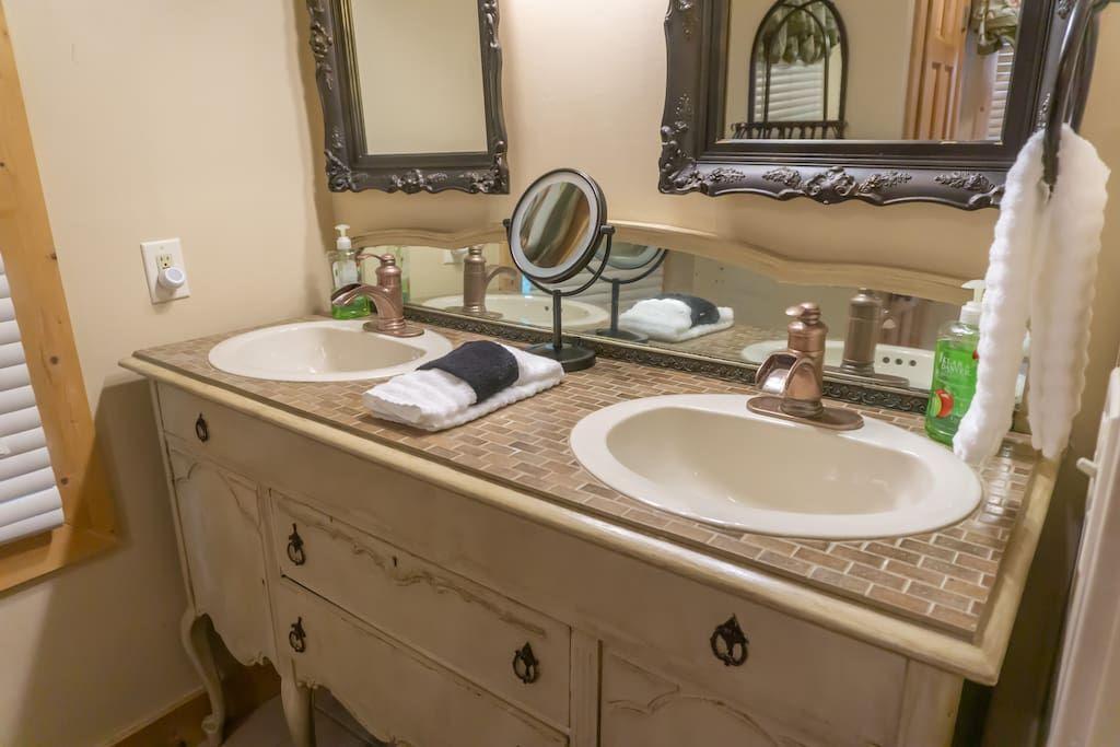 Main level bathroom custom cabinetry