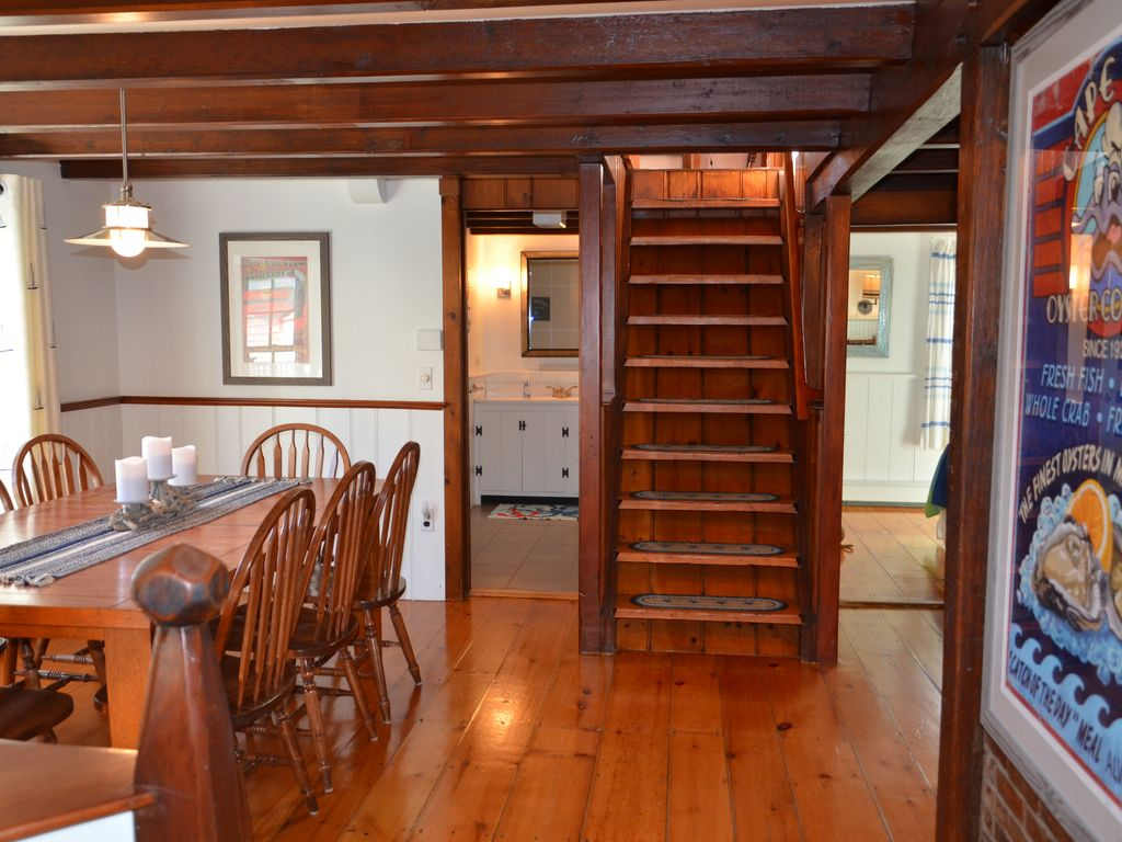 Dining Room & Kitchen lead to the stairwell to a 2nd floor Master BR ensuite.