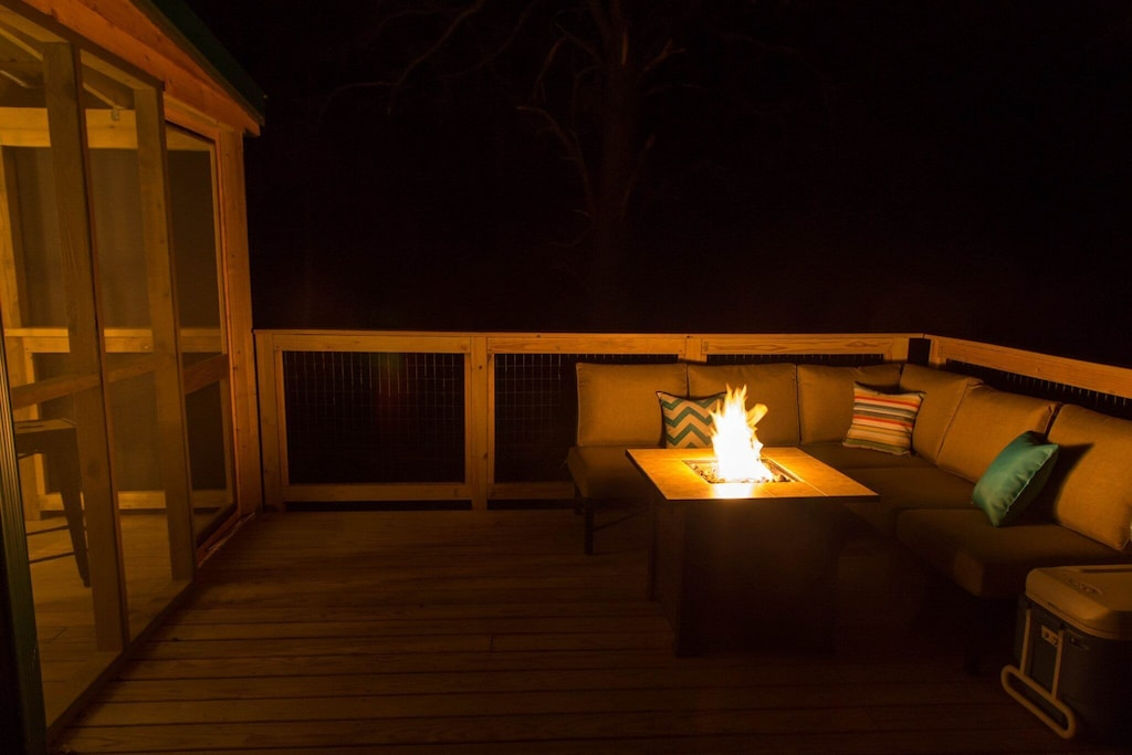 Talk with your friends for hours over the warm flames