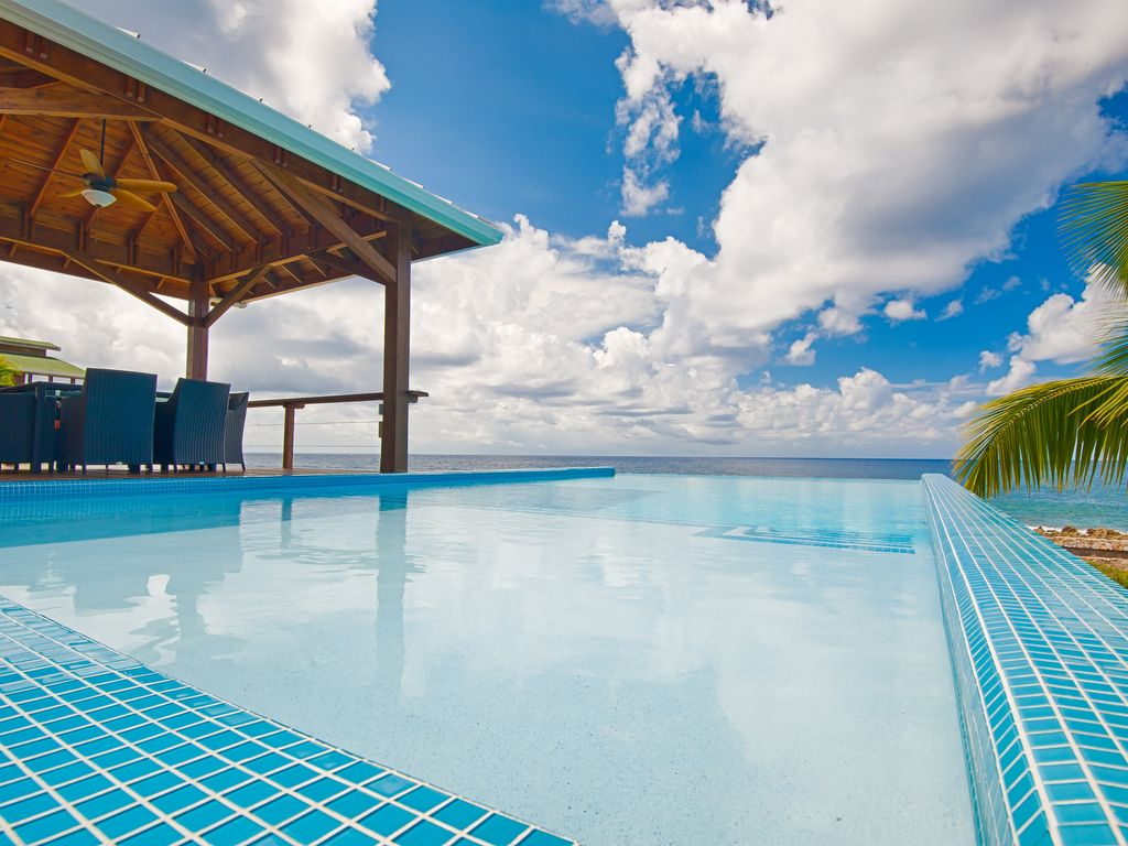 Infinity pool with amazing views