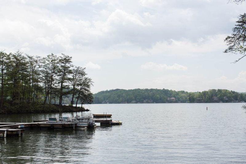 Imagine floating across this serene water