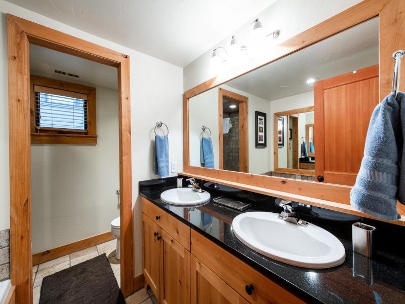 master bath - tub, shower