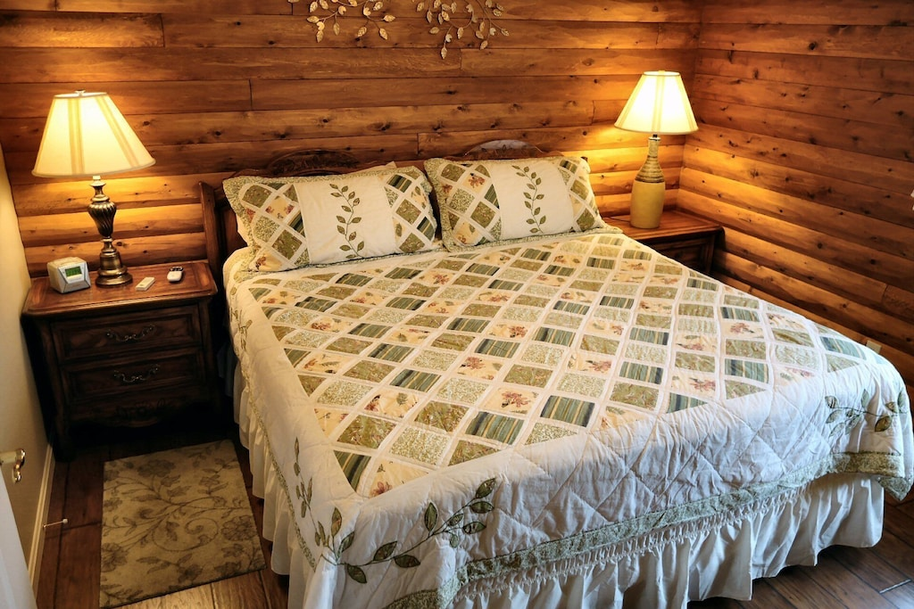Warm comfortable modern bedrooms - this it the master bedroom