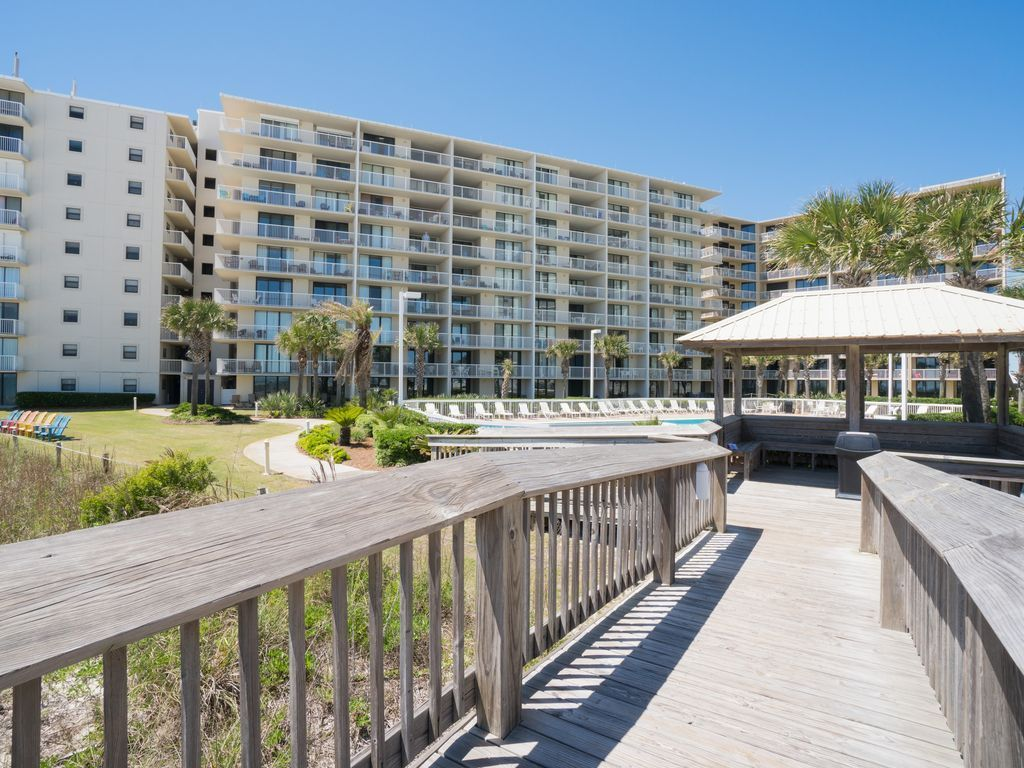 View of building from the board walk
