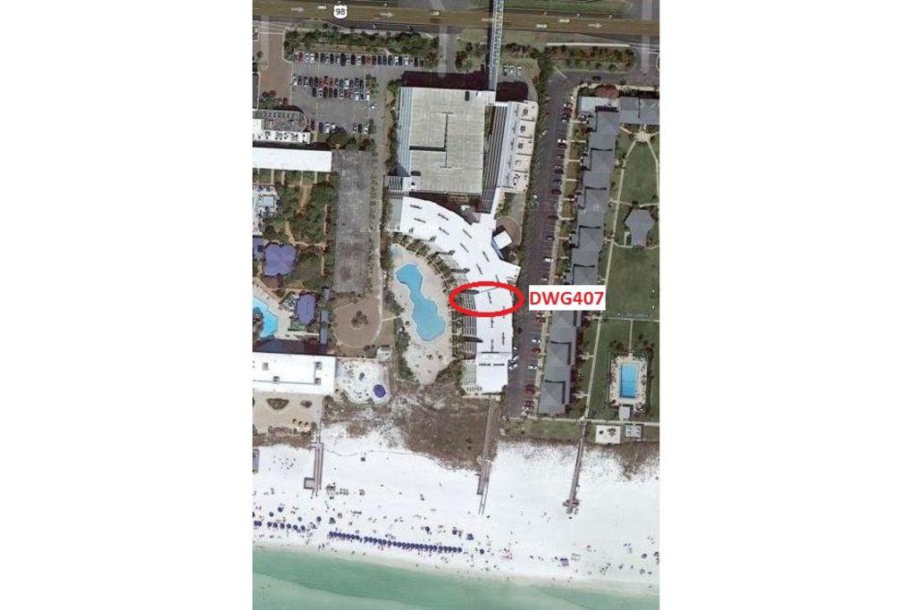 Destin West Gulfside #407 - Aerial View
