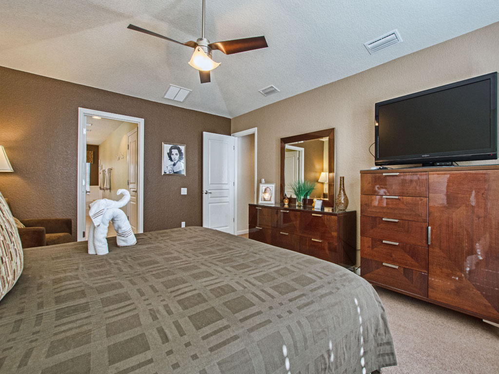 Master suite number 1 features a smart tv for streaming shows before bed.