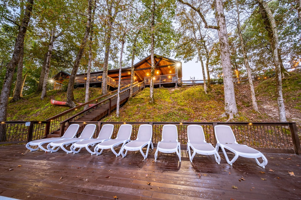 Enjoy sunbathing or just relax on the lower deck.