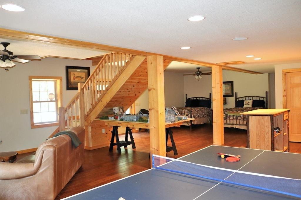 Open lower level floor plan