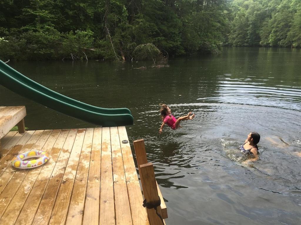 Swimming in Mirror Lake