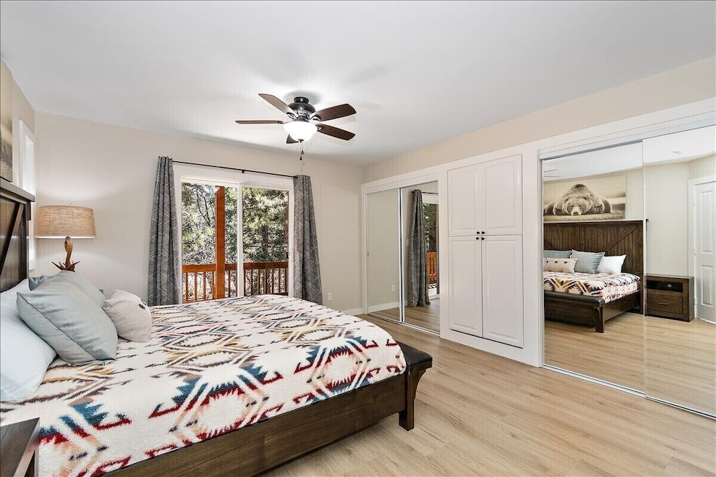 Master Suite with his and her closets and new furnishings