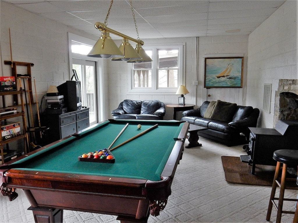 Additional view of pool table