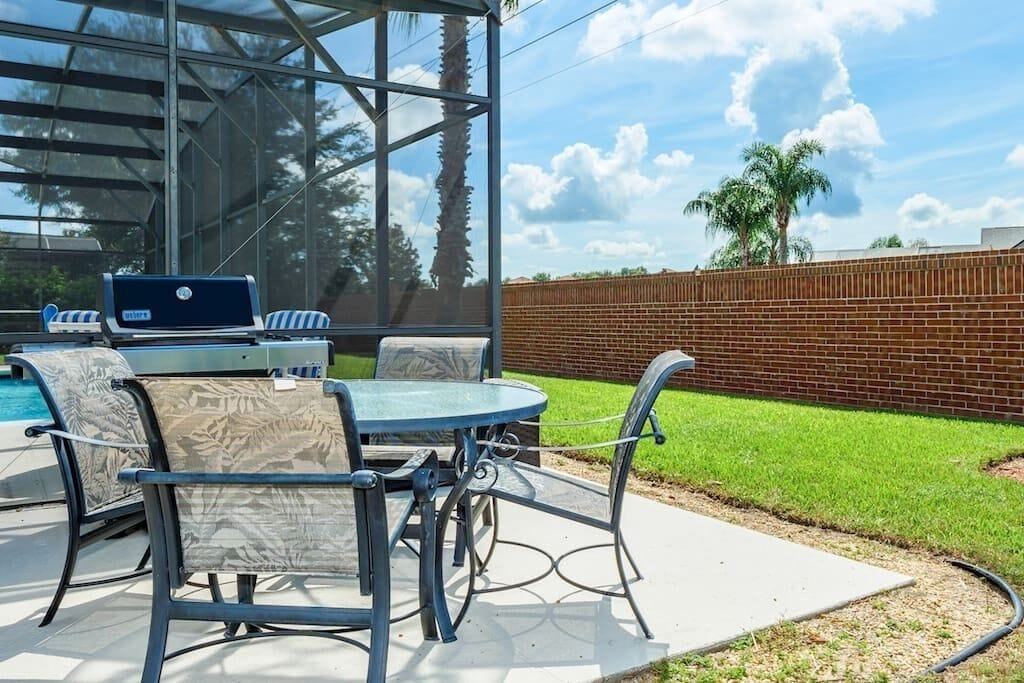 BBQ Area with Weber Gas Grill