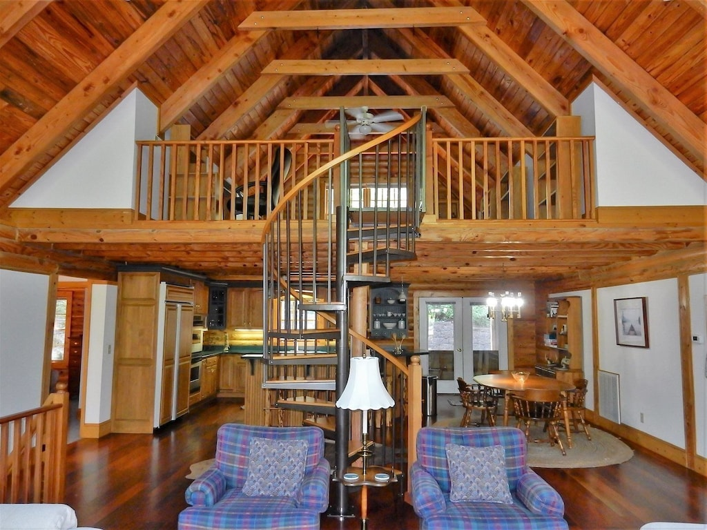 Stair case in Lazy Bear Lodge