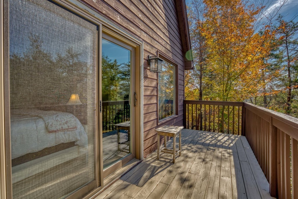 Enjoy your morning cup of Coffee on this private deck off of the master bedroom