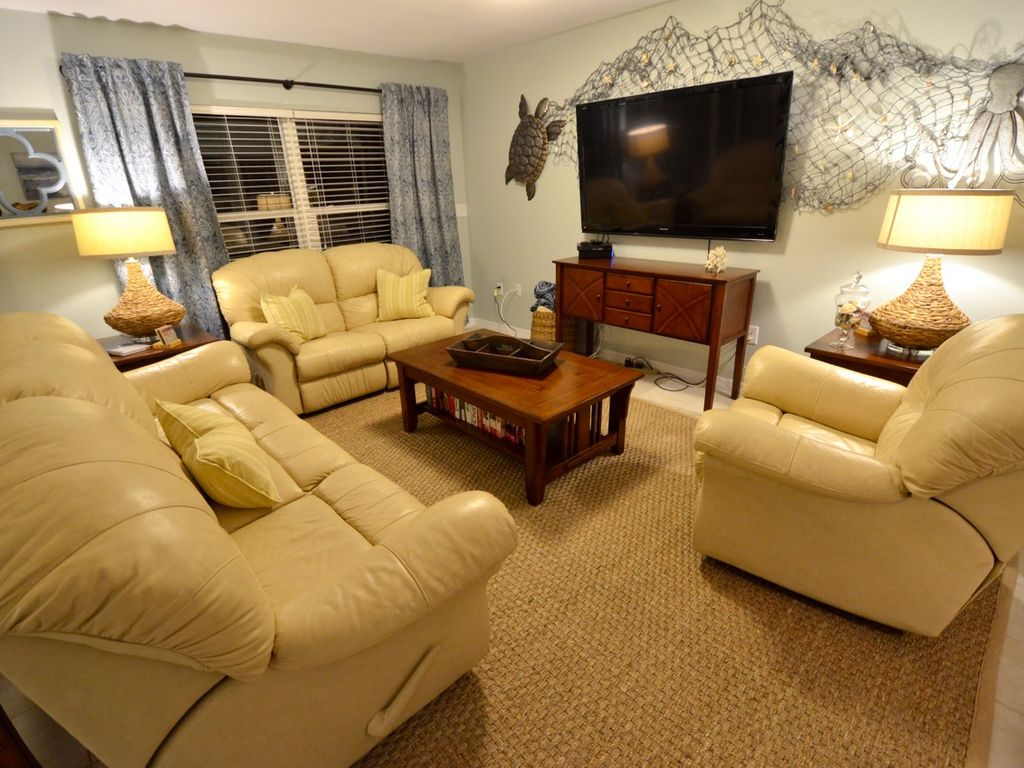 Comfortable recliner seating in the living room.