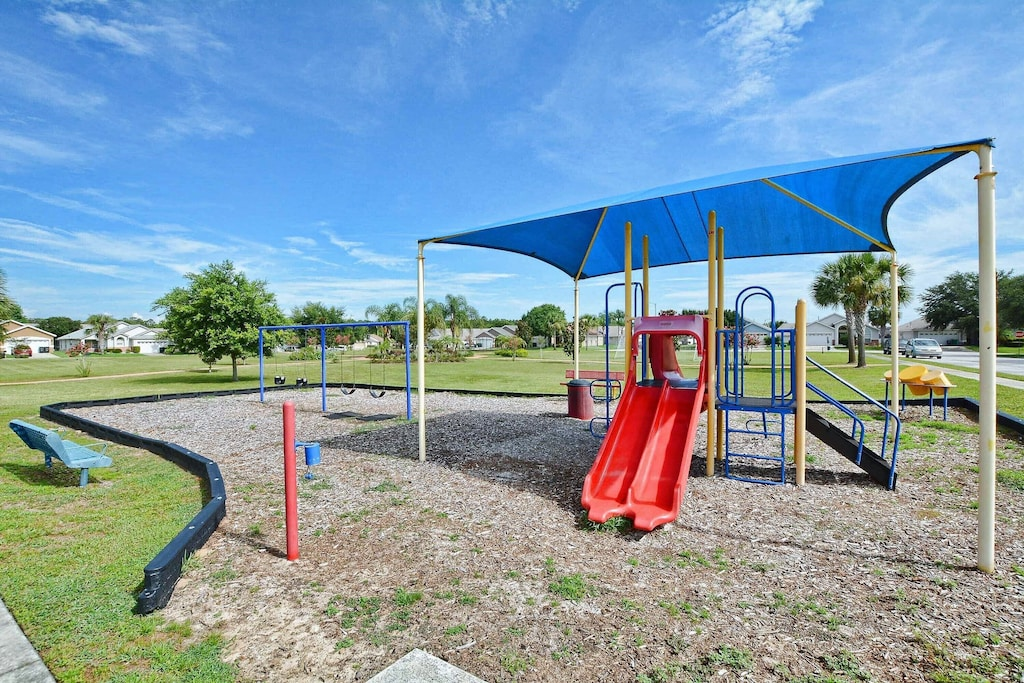 One of two playgrounds in Indian Creek.