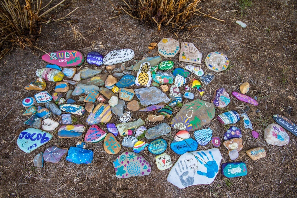 Paint a river rock!  Pick a river rock and then paint it and leave behind with our others!