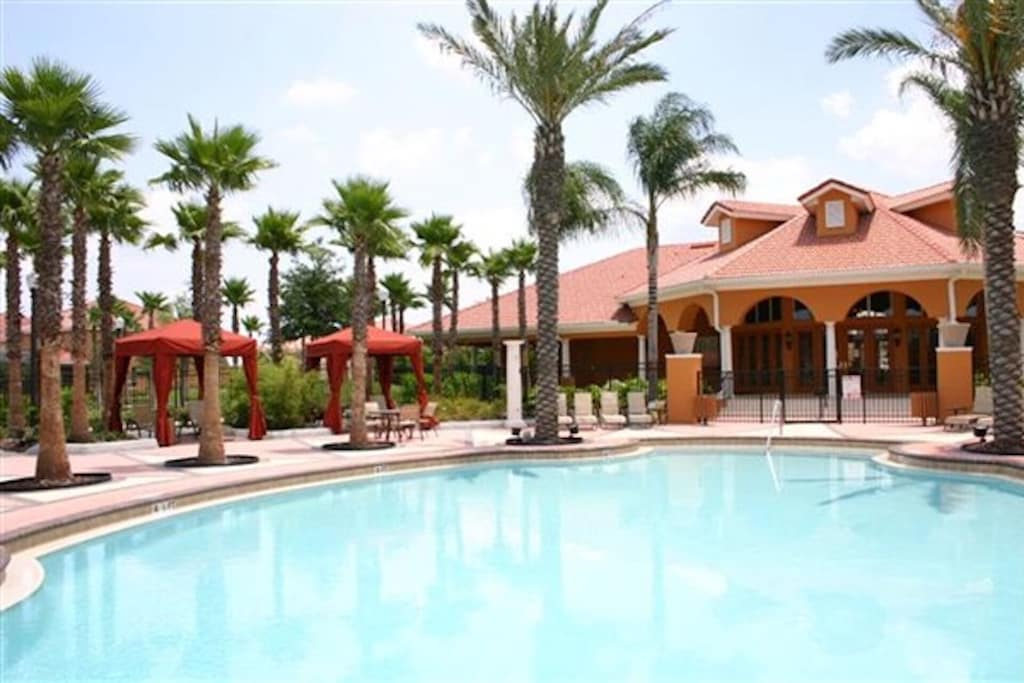 Resort pool and clubhouse
