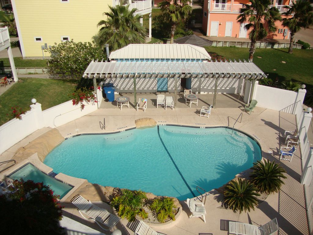 Sand Point Neighborhood's Private Pool and Hot Tub Area