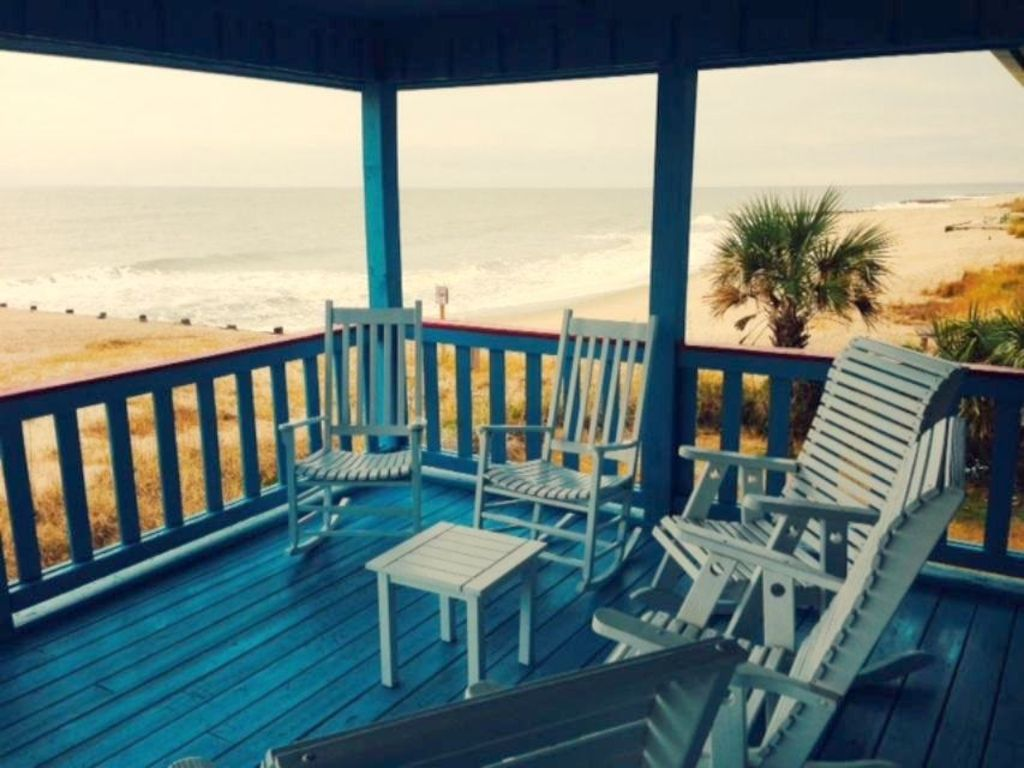 Take in the views while relaxing on the covered beach front porch!