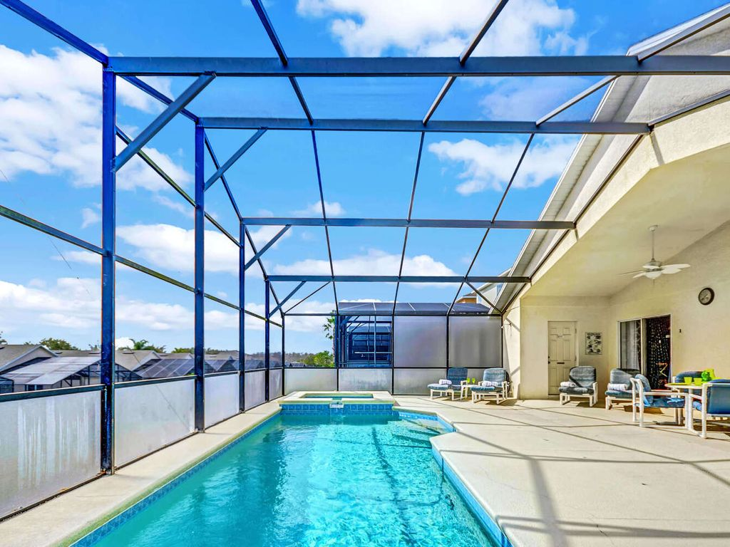 Large Patio Area and Pool w/ Privacy Screening