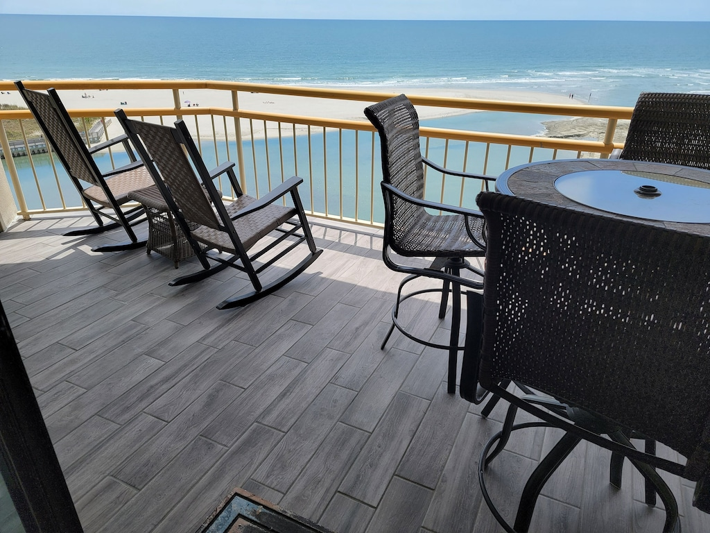 Direct Ocean Front Breathe Taking Views on Large Balcony Newly Tiled & Furnished