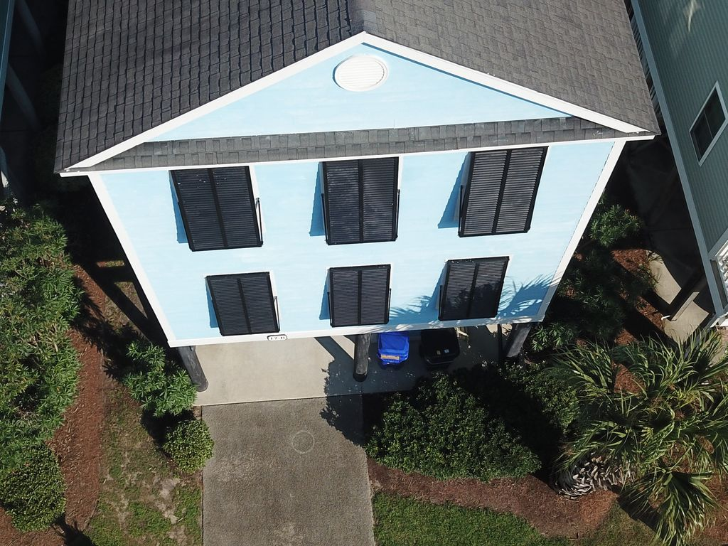 Ariel view of house-Ocean Blvd side