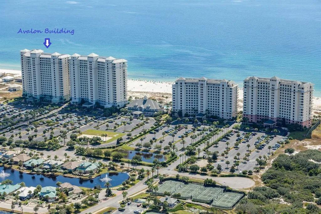 Aerial view of The Beach Club