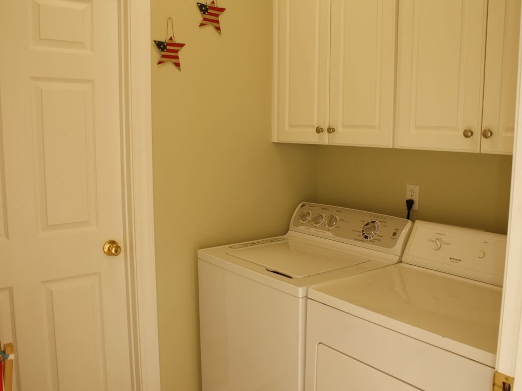 Laundry area off kitchen