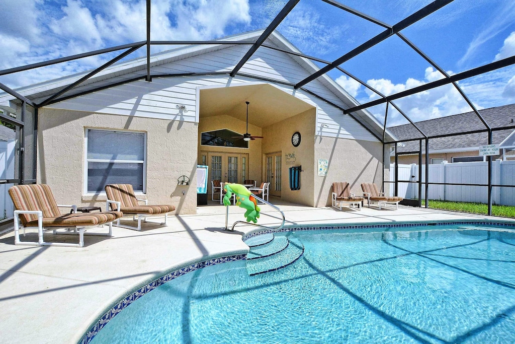 Ready for a swim in the heated pool?