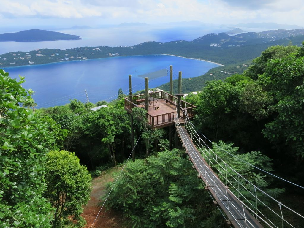 ZipLine attraction on St. Thomas nearby