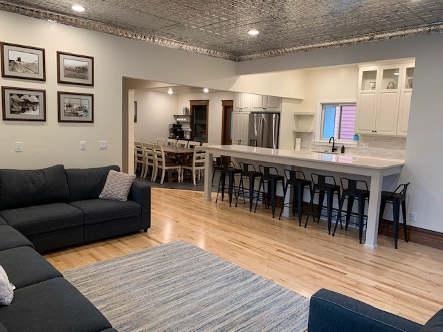 Great open-concept kitchen for a socializing and eating area