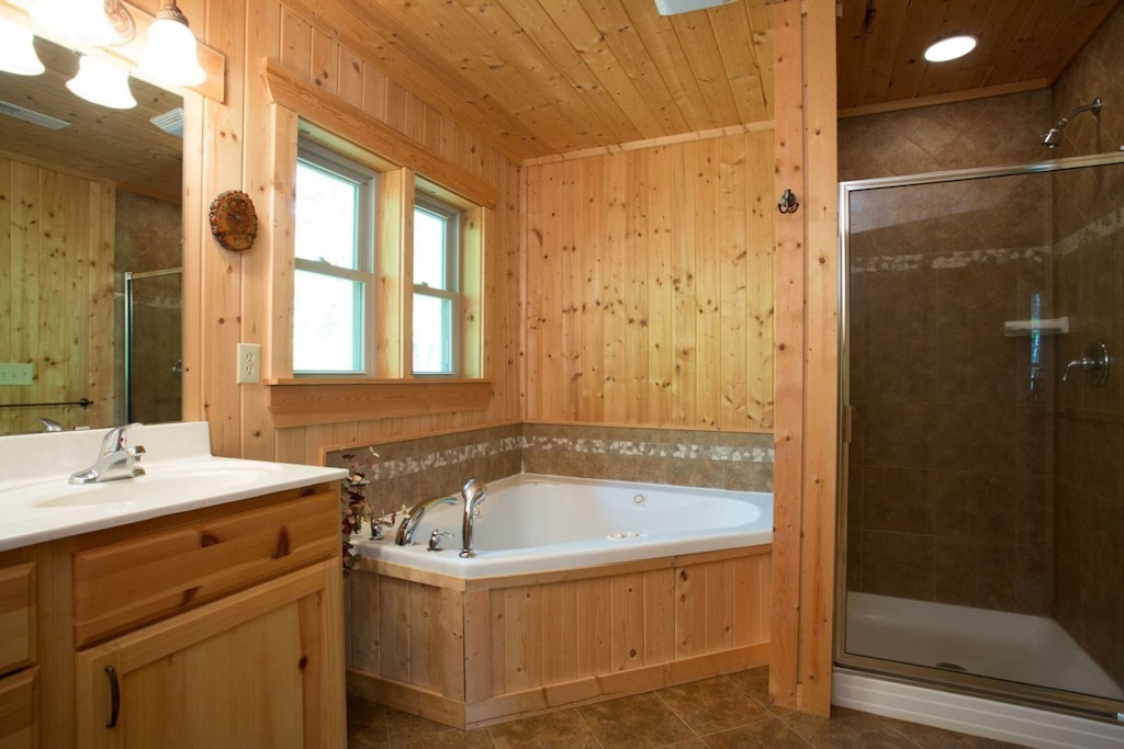 There is also a walk-in shower in the full upper level full bath.