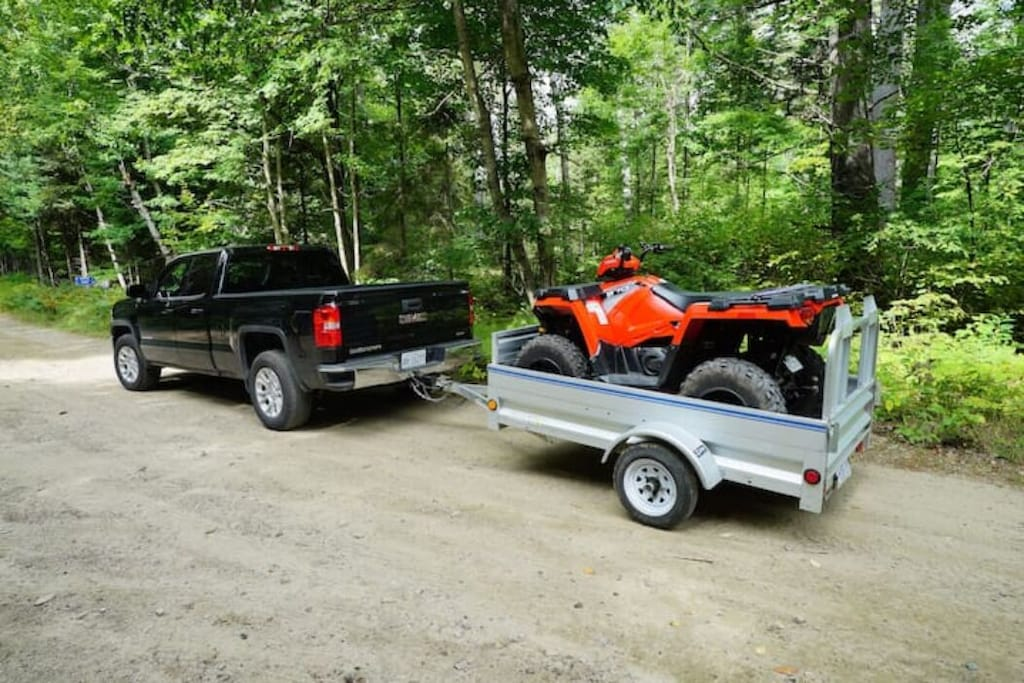 100 kilometers of trails for your ATV or snowmobile