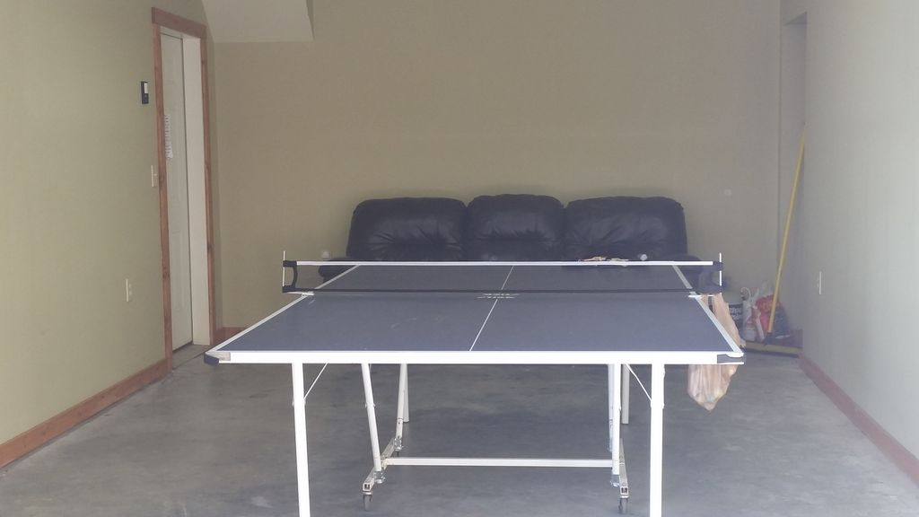 Ping Pong  and viewing couch in Garage area :) Folds and rolls to side if needed