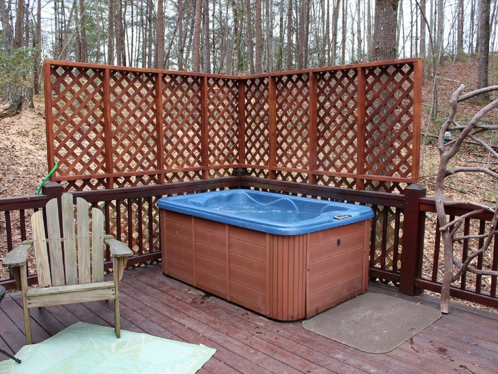 Enjoy the relaxing hot tub on the deck