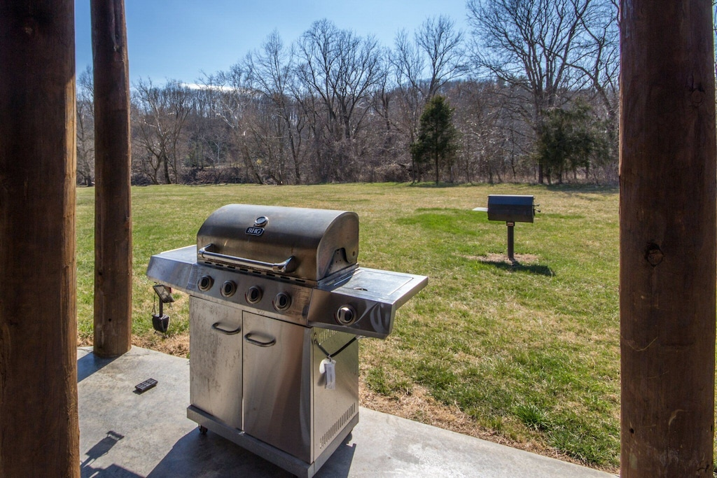 Two types of grills - both charcoal and gas