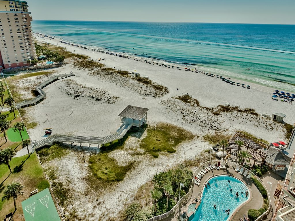 Views of the gulf, beach, dunes and pool from your private balcony
