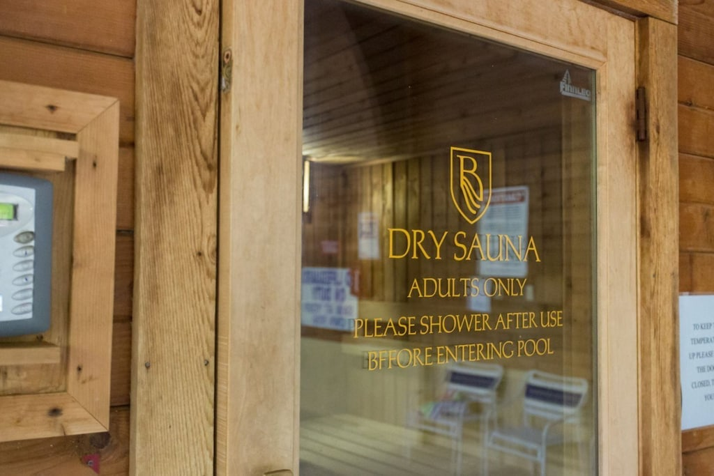 There is also a dry sauna for your enjoyment.
