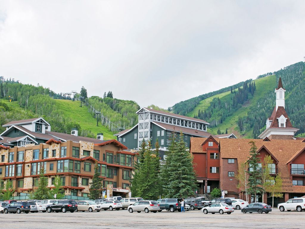 Summer at the base of Park City Mountain Resort