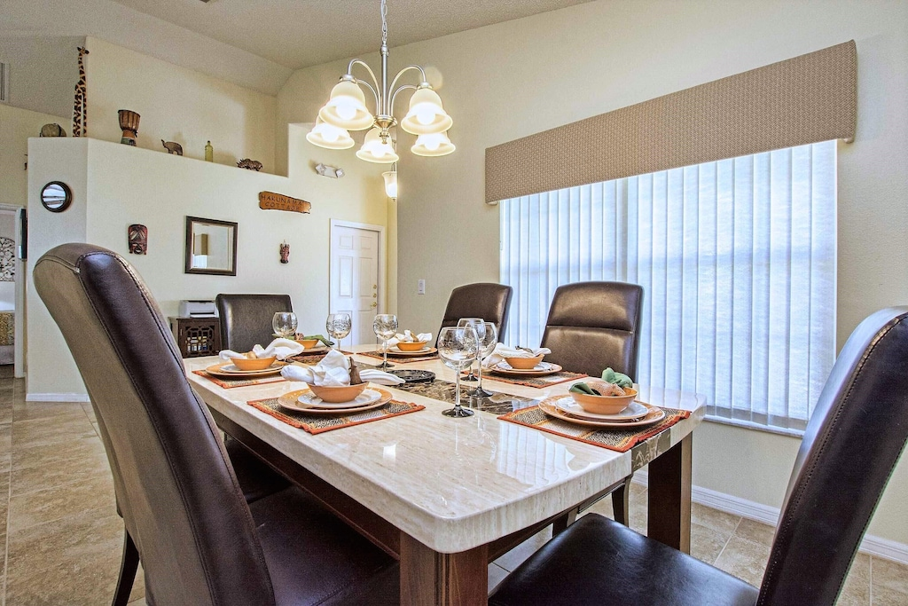 The large window in the dining room provides plenty of natural light!