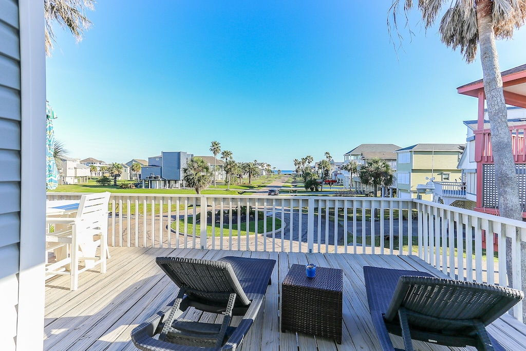 Enjoy outdoor time relaxing on the deck while taking in the views.