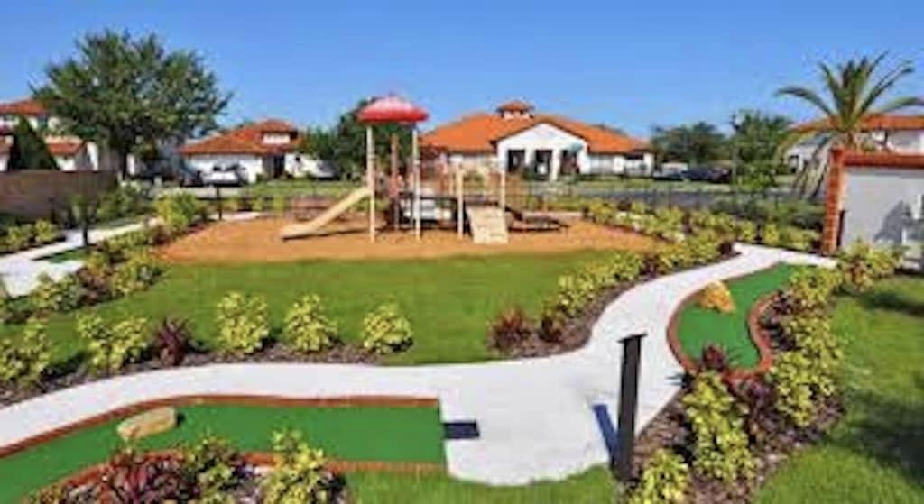 Mini golf and playground in the resort