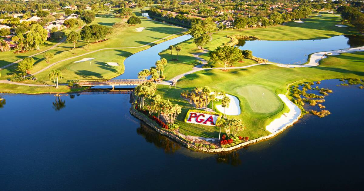 Enjoy a round of golf at the well known PGA National Golf Course