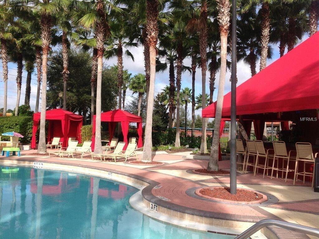 Tiki bar by the resort pool